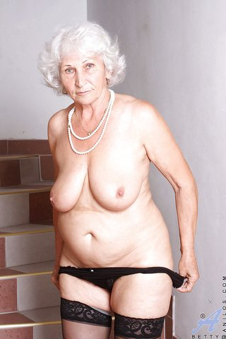 puffy tits granny stockings