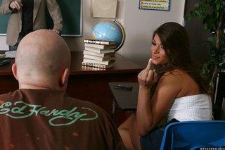 american brunette naughty school