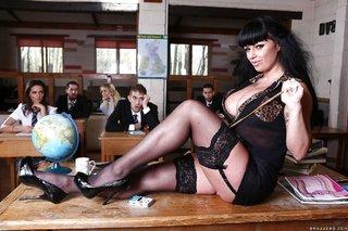 british brunette teacher