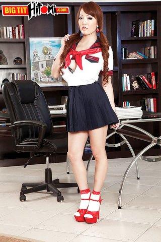 uniform big tit schoolgirl