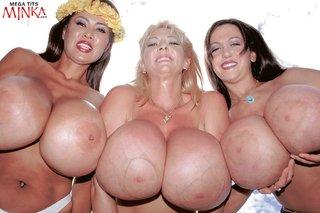 hardcore huge tits oiled