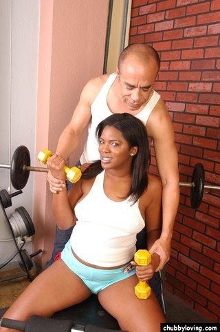 chubby black girl big