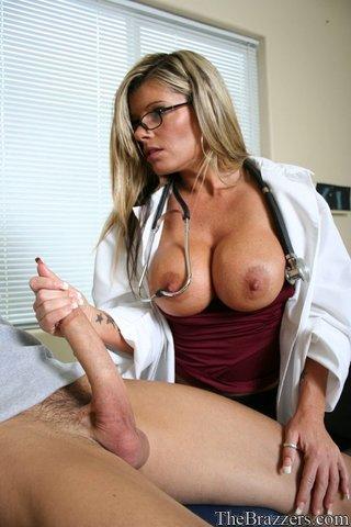 american gorgeous doctor handjob