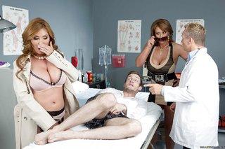 uniform wife threesome