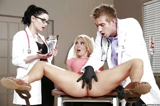 tiny tits doctor threesome