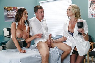 blonde hot doctor threesome