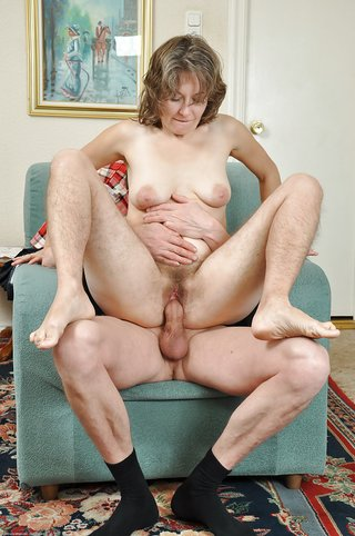 mature amateur riding cock
