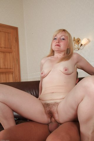 Hairy Blonde Teen Creampie