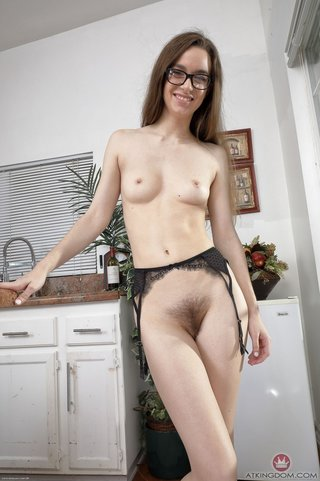 american nerdy beautiful brunette