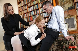 office hungarian threesome