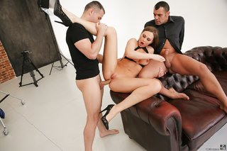 hot euro british threesome