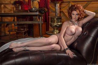 american redhead model boobs