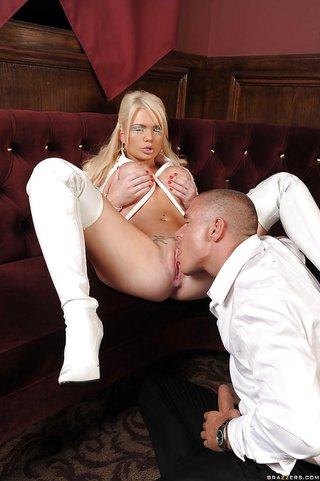 blonde boots fuck