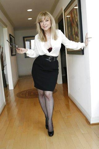 seductive mature blonde