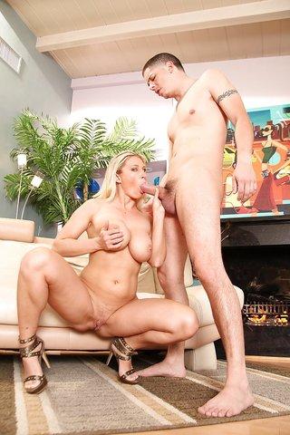 horny blonde milf blowjob