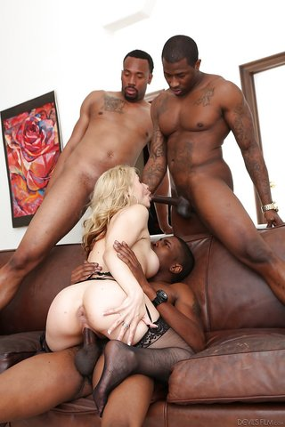 dirty interracial anal gangbang
