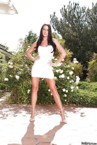american stripping hot dress