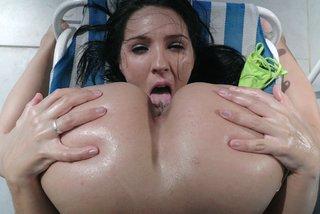 lesbian big tits lotion