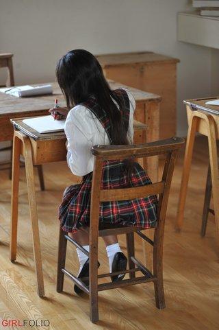 beautiful asian tight skirt