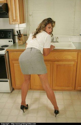 tight milf kitchen
