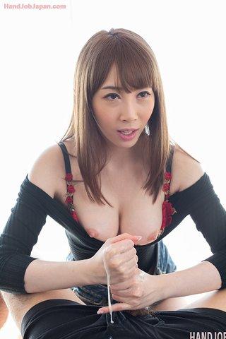 amazing japanese handjob cumshot