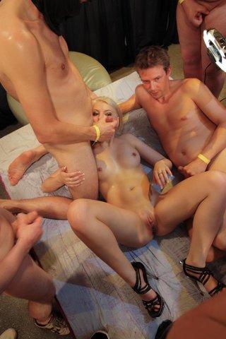 hardcore blonde orgy