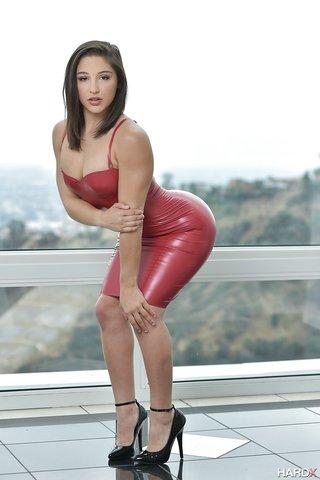 big butt leather dress