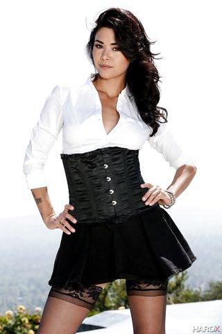 beautiful corset milf