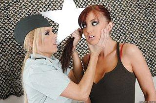 uniform lesbian spanking
