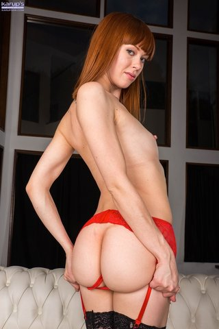 red hair amateur lingerie