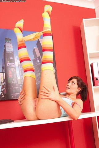 playful latina teen amateur