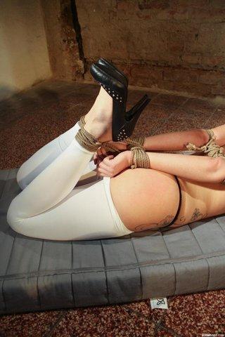 hogtied stockings high heels