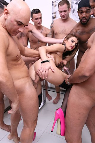 slovak rough interracial gangbang