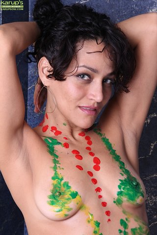 tiny tits body paint