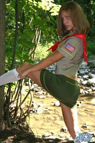 uniform non nude tease