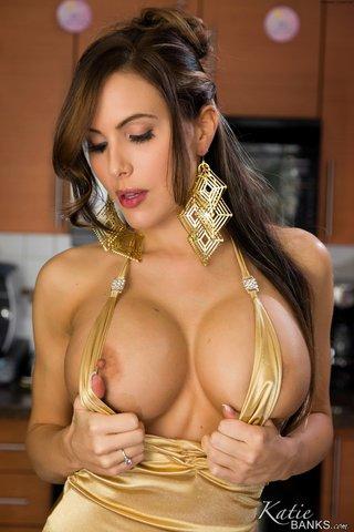 elegant blonde big tits