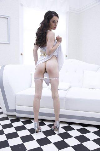 brunette interracial double anal