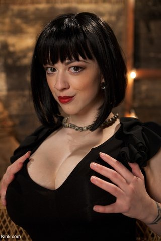 brunette bdsm slave
