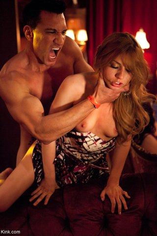 brunette bdsm orgy slave
