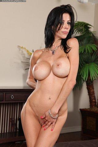 tiny big tit brunette