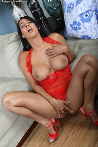 black hair busty latina
