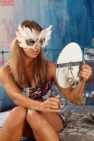 tight amateur blindfold