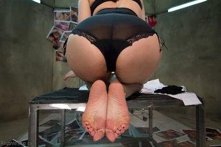 big tits foot worship