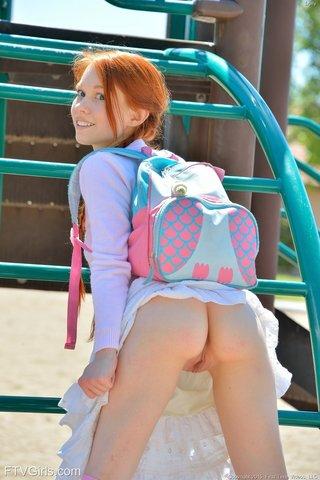 american young schoolgirl pigtails