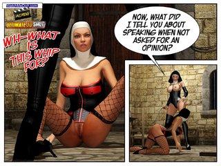 naughty nun enjoys wildly