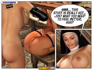 sinful nun masturbates pussy