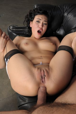 dark haired asian anal