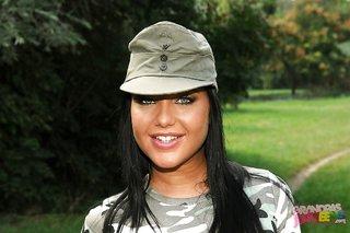 hungarian uniform hot brunette