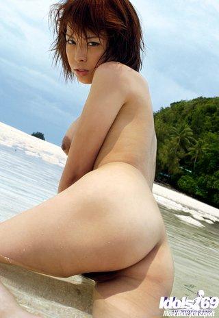 asian beach babe