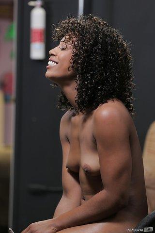 small tits curly ebony